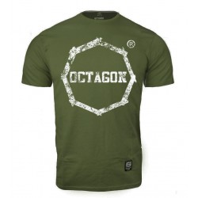 T-shirt męski Octagon khaki