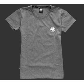 Koszulka patriotyczna damska - Orzeł (szara)