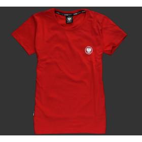 Koszulka patriotyczna damska - Orzeł (czerwona)