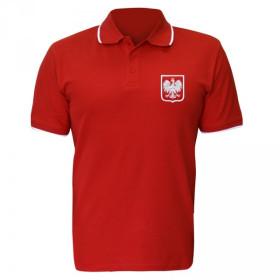 Męska polówka patriotyczna Godło - czerwona