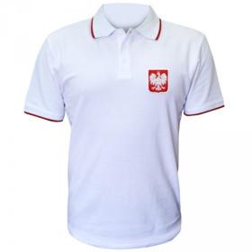 Patriotyczna koszulka polo Godło - biała