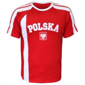 Koszulka kibica Polska - Godło - czerwona