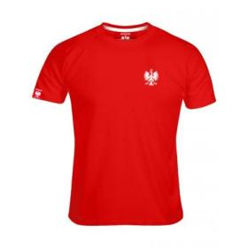 Koszulka patriotyczna męska Haft Orzeł - czerwona