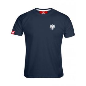 Koszulka patriotyczna męska Haft Orzeł -jeans