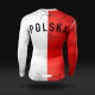 Koszulka termoaktywna Polska Flaga - długi rękaw