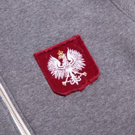 Bluza z ręcznie podniszczaną tarczą z Polskim Orłem - Kolekcja Dyskretna