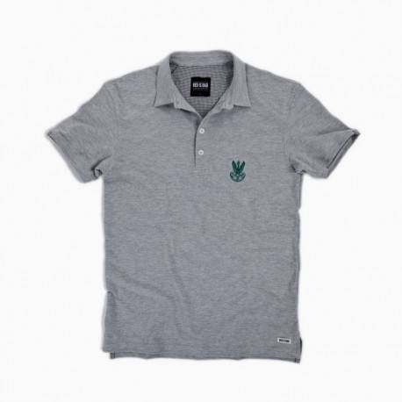 Koszulka polo z haftem AK - szara