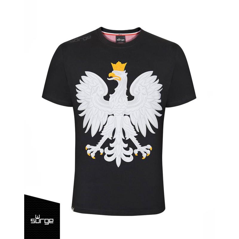 Koszulka patriotyczna Godło Polski (CZARNA)