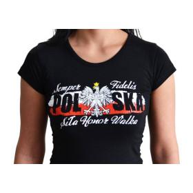SZYK Koszulka patriotyczna damska Żołnierze Wyklęci (CZARNA)