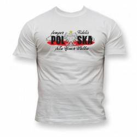 Koszulka Patriotyczna Polska - Siła Honor Walka