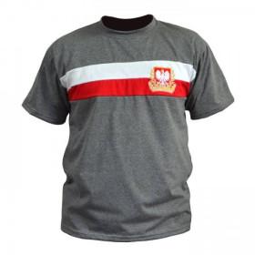 """Koszulka Patriotyczna """"Wielka Polska"""" (pasy jasny melanż)"""