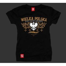 Koszulka patriotyczna damska Wielka Polska (czarna)