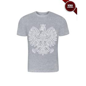 Koszulka patriotyczna Orzeł Sport (POPIEL)