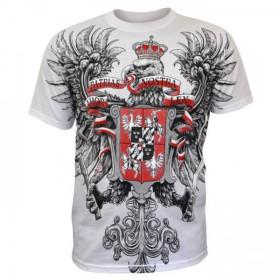 """Koszulka Patriotyczna """"Husaria Amor Patriae Nostra Lex"""" biała"""