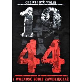 Koszulka patriotyczna damska 1944 Chcieli być wolni (czarna)