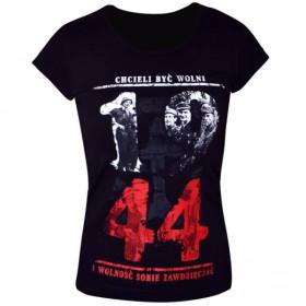Koszulka patriotyczna damska 1944 Chcieli być wolni