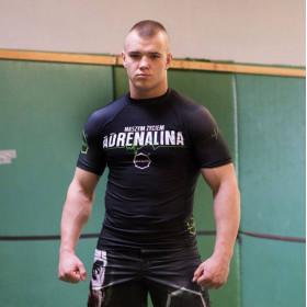 Koszulka sportowa Rashquard Adrenalina (zielony krótki rękaw)