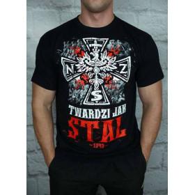 """Koszulka Patriotyczna """"Twardzi jak stal"""" (czarna)"""