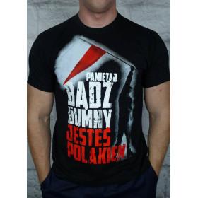 Koszulka Patriotyczna Bądź dumny jesteś Polakiem czarna