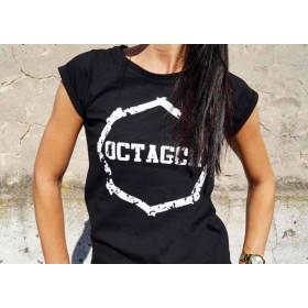 """Koszulka damska T-shirt Octagon """"Zęby"""" (czarna)"""