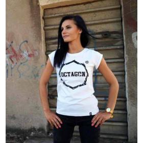 """Koszulka damska T-shirt Octagon """"Zęby"""" (biała)"""