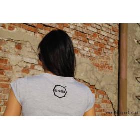 "Koszulka damska T-shirt Octagon ""Logo"" (popiel)"