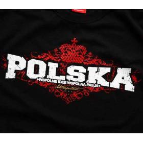 Koszulka patriotyczna Polska (czarna)