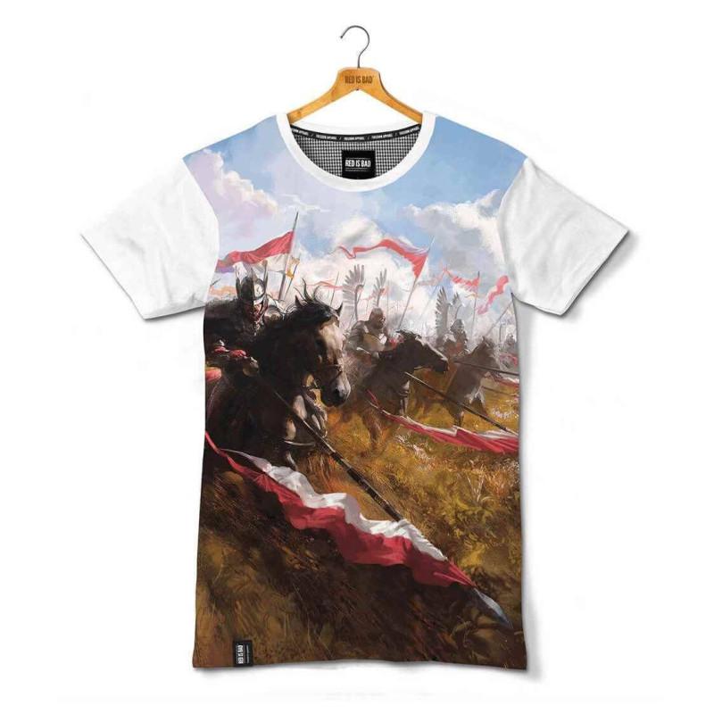 koszulka patriotyczna Husaria Szarża - nadruk sublimacyjny