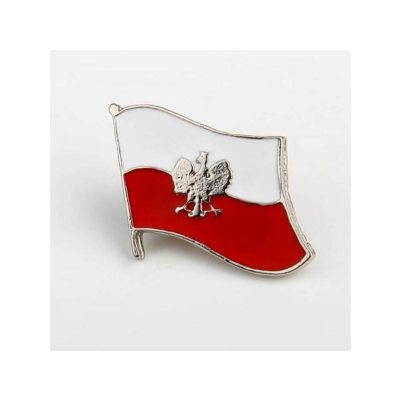 Wpinka Patriotyczna Polska Flaga Orzeł