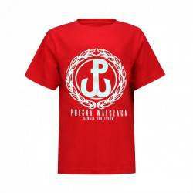 """Koszulka patriotyczna dziecięca """"Kotwica"""" - czerwona"""