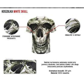 Koszulka fantasy Biała czaszka