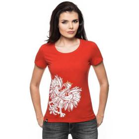 Koszulka patriotyczna Orzeł Sport damska (CZERWONA)