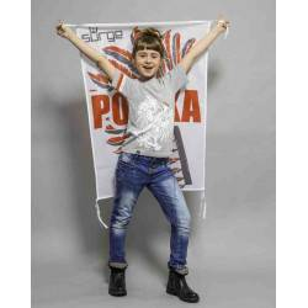 Koszulka patriotyczna dziecięca Orzeł Sport (JASNY MELANŻ)