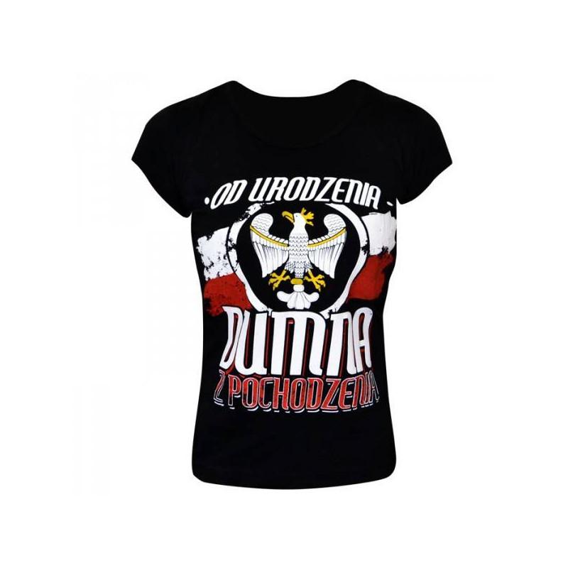 Koszulka patriotyczna damska dumna z pochodzenia