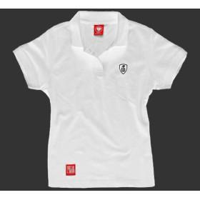 Koszulka patriotyczna polo damska Polska Walcząca (biała)