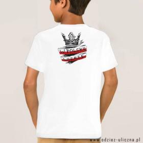 Koszulka patriotyczna dziecięca W Polskę Wierzę