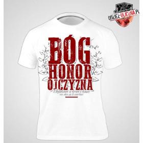 Koszulka patriotyczna Bóg Honor Ojczyzna