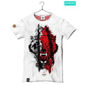 Koszulka patriotyczna Wilk biało-czerwony