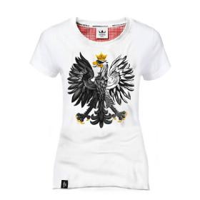 Koszulka patriotyczna Orzeł Biały - biała(damska)