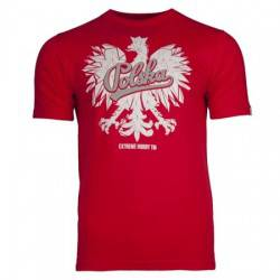 Koszulka patriotyczna Orzeł Polski (czerwona)