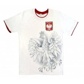 Koszulka piłkarska dziecięca Polska (biała)