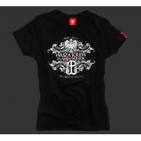 Koszulka patriotyczna damska Za naszą wolność (czarna)