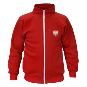 Bluza patriotyczna rozpinana - bez kaptura (czerwona)