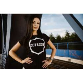Koszulka damska T-shirt logo Octagon czarna