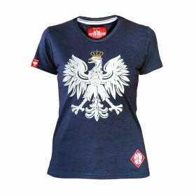 Koszulka patriotyczna Orzeł damska (jeans)