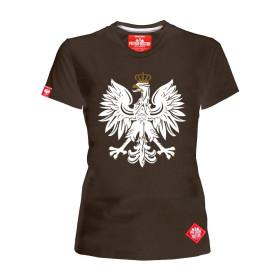 Koszulka patriotyczna Orzeł damska (brązowa)