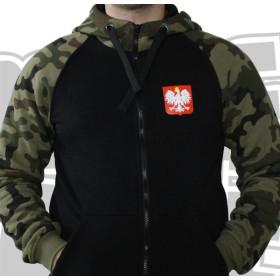Bluza patriotyczna z kapturem Polska Moja Ojczyzna (moro)