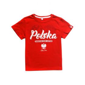 Patriotyczna koszulka dziecięca - Polska pamiętam skąd jestem