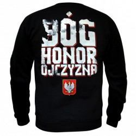 Męska bluza patriotyczna Bóg Honor Ojczyzna - bez kaptura