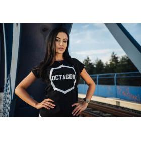 Koszulka damska T-shirt Octagon Tyle szans ile odwagi - czarna